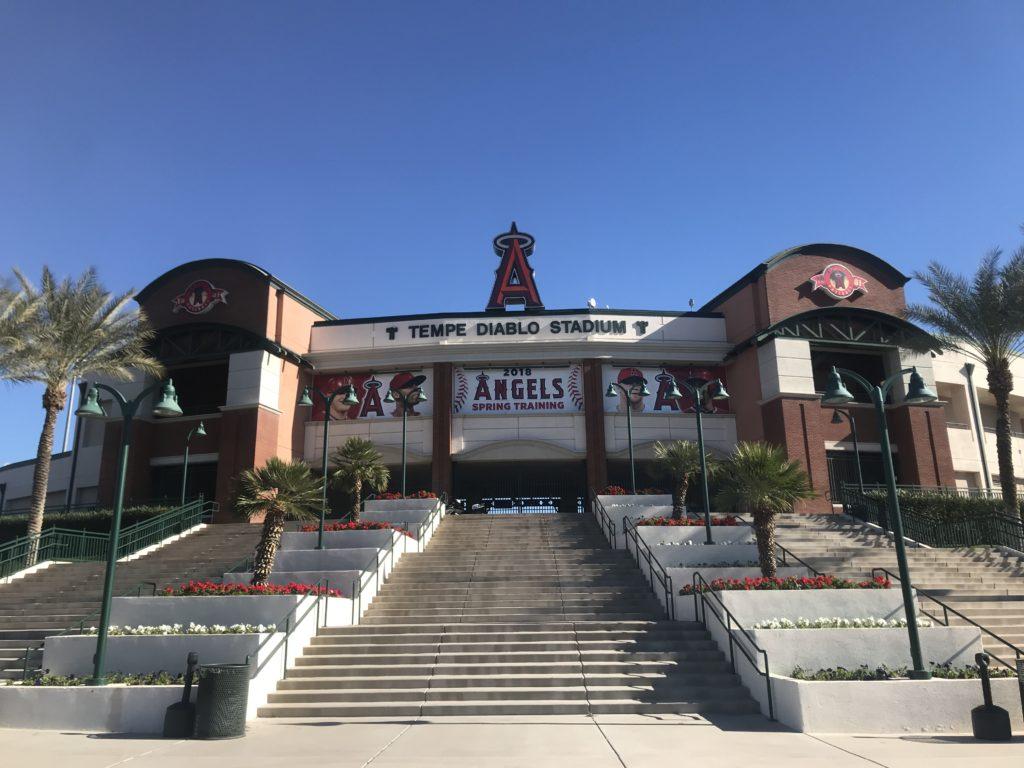 ロサンゼルス・エンゼルスのスプリングキャンプ球場、テンピ・ディアブロ・スタジアム TEMPE DIABLO STADIUM